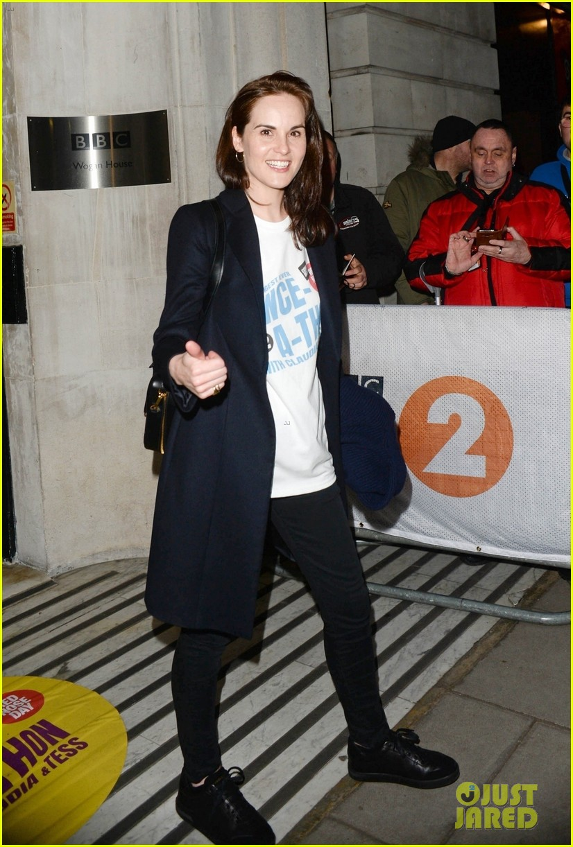 michelle dockery hosts comic relief dance a thon in london 034256636