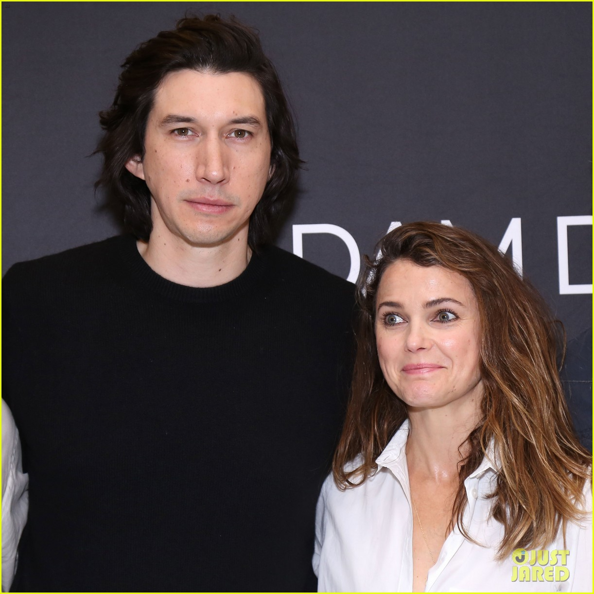 adam driver keri russell join burn this broadway cast at nyc photo call 014253176