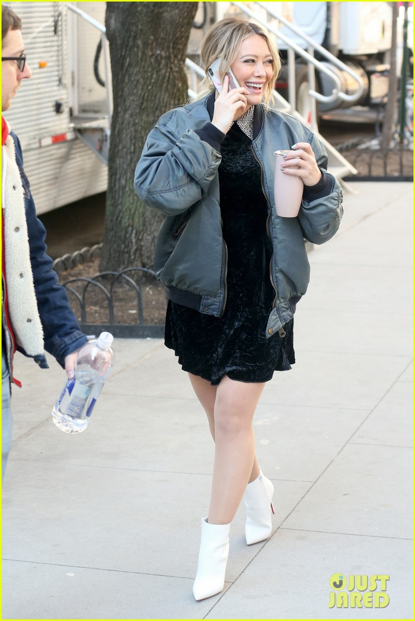 hilary duff is all smiles while filming younger in nyc 06
