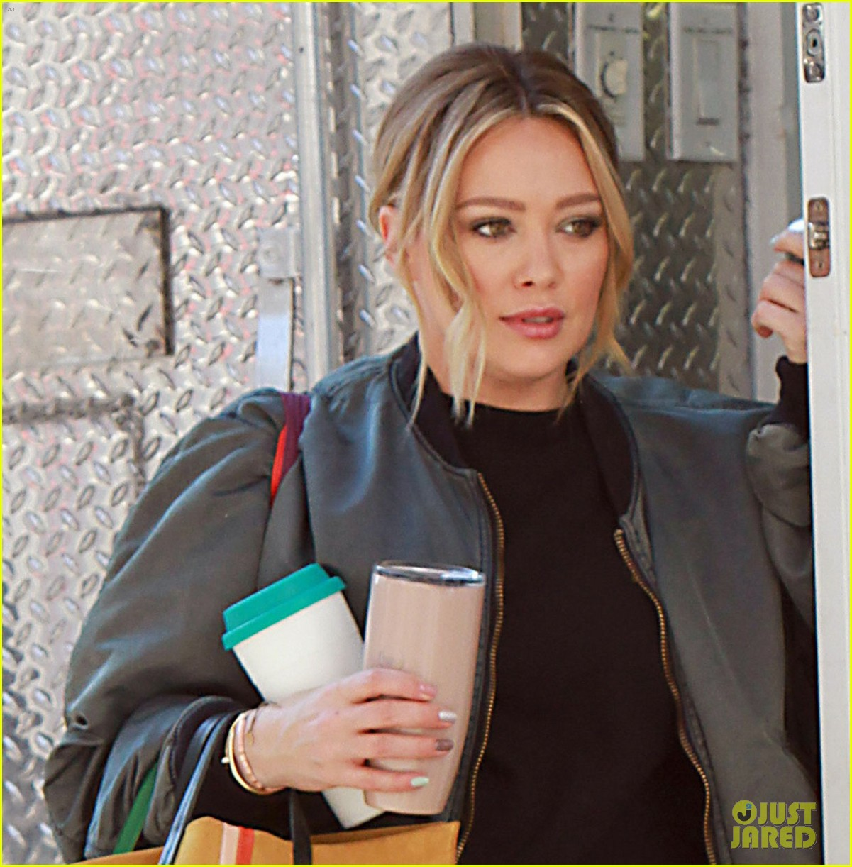 hilary duff is all smiles while filming younger in nyc 09