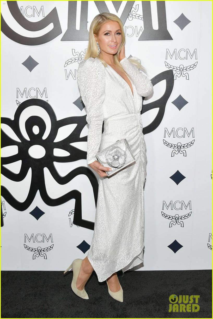 billie eilish paris nicky hilton celebrate mcm global flagship store opening 11