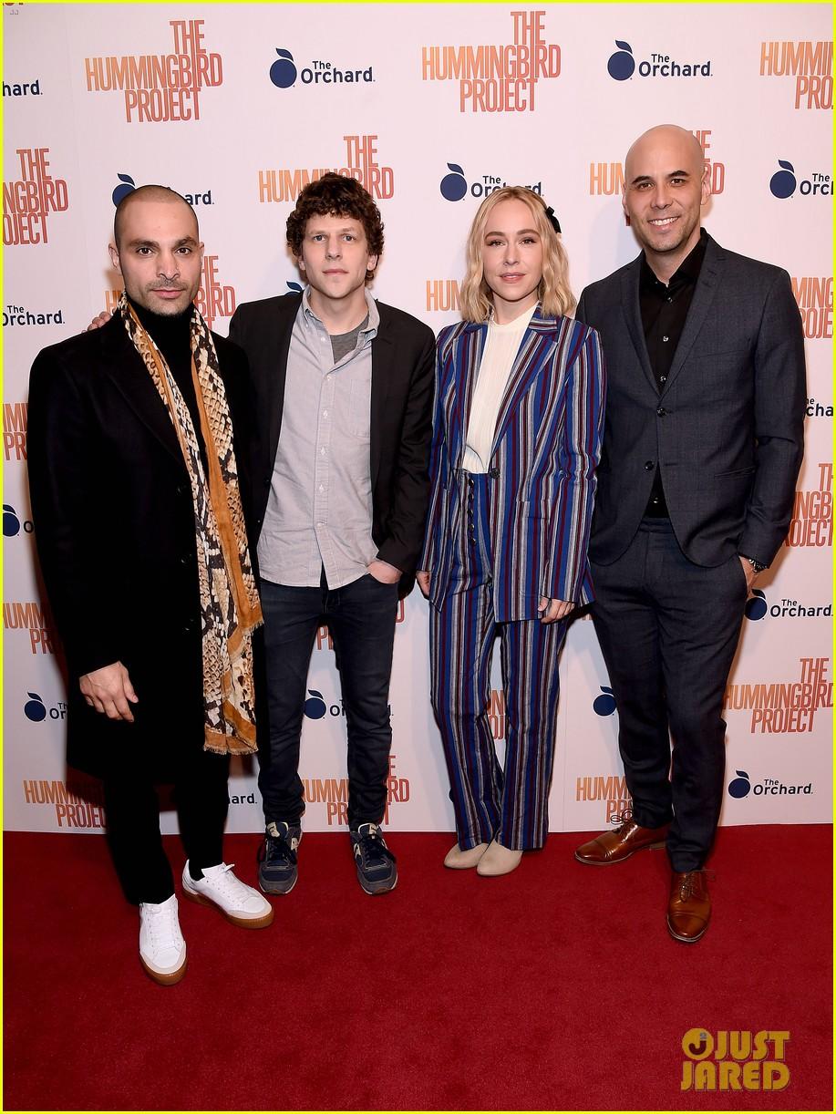 jesse eisenberg joins hummingbird project cast at new york screening 06