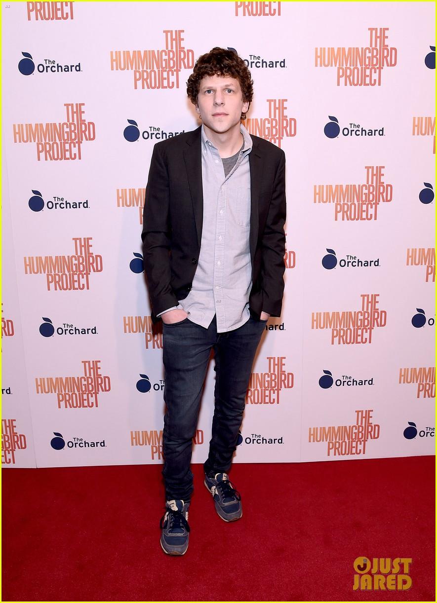 jesse eisenberg joins hummingbird project cast at new york screening 07