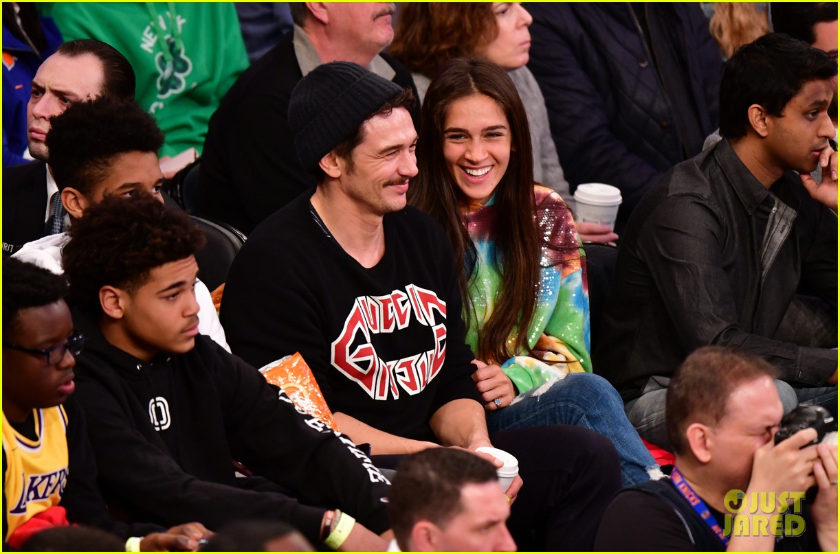 james franco girlfriend isabel pakzad have date night at lakers game 03