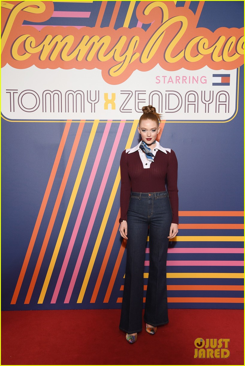 zendaya supported by gigi hadid tommy hilfiger show 224250561