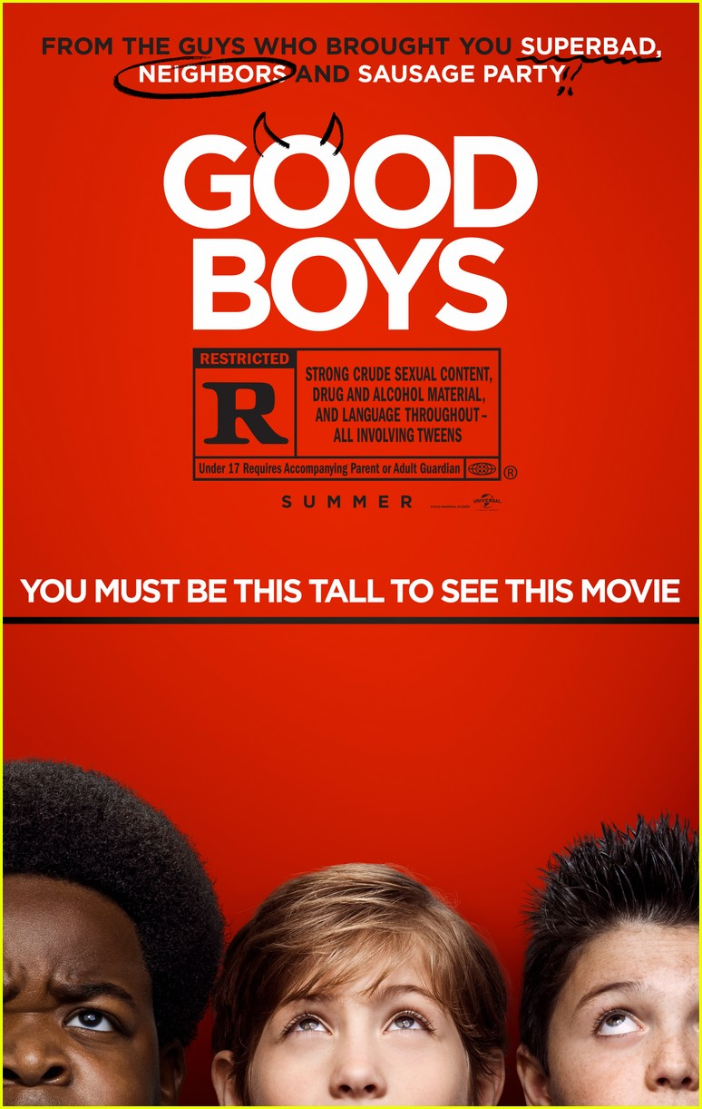 the good boys are too short for their movie in official poster 014253827