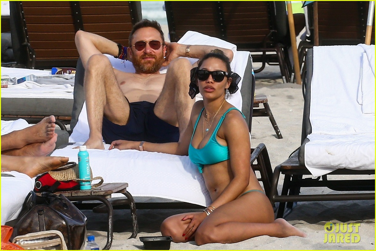 david guetta hits the beach miami girlfriend jessica ledon 02