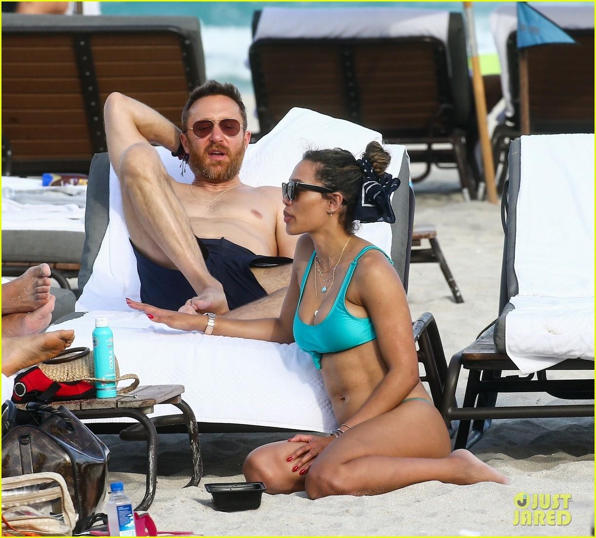 david guetta hits the beach miami girlfriend jessica ledon 04