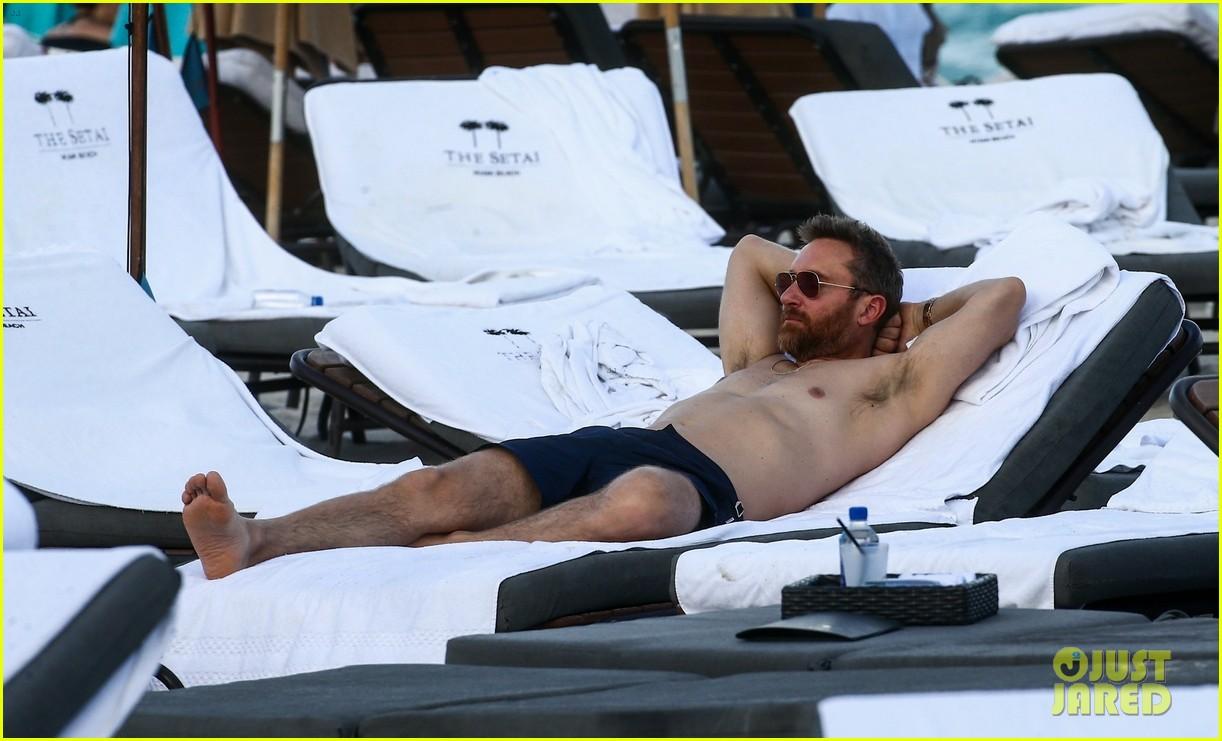 david guetta hits the beach miami girlfriend jessica ledon 07