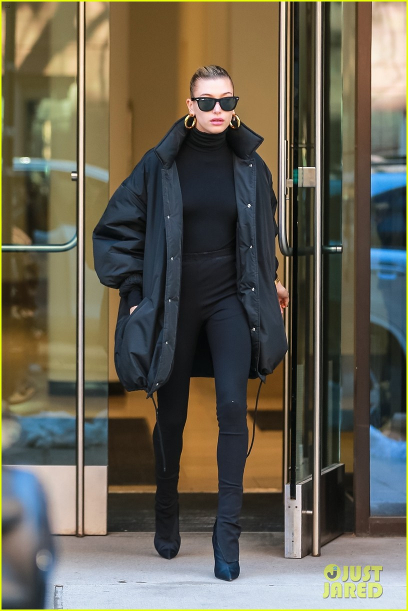 hailey bieber dons all black for weekend outing 014254520