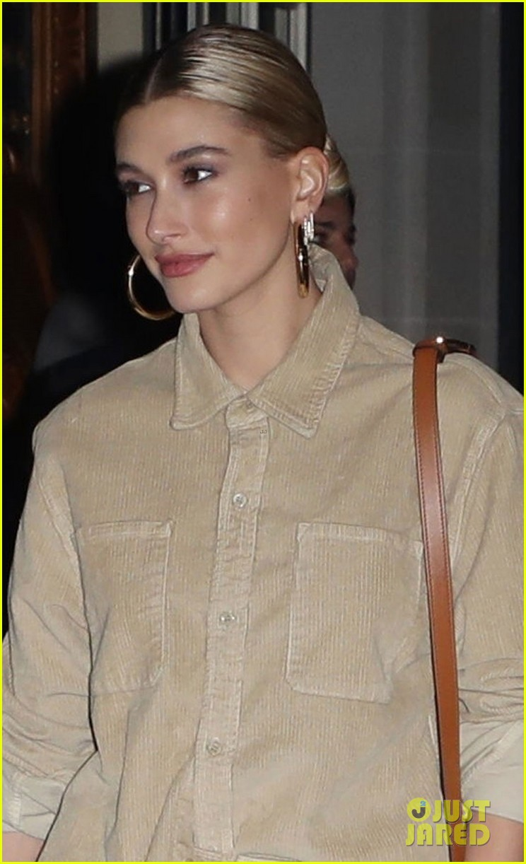 hailey bieber all smiles while leaving party with stylist maeve reilly 024250841