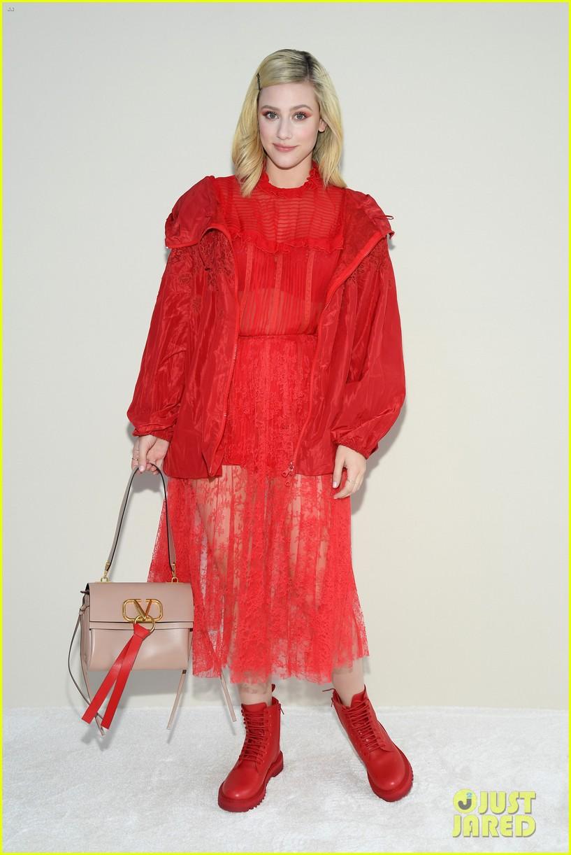 janelle monae lili reinhart katherine langford ladies in red at valentino 064250697