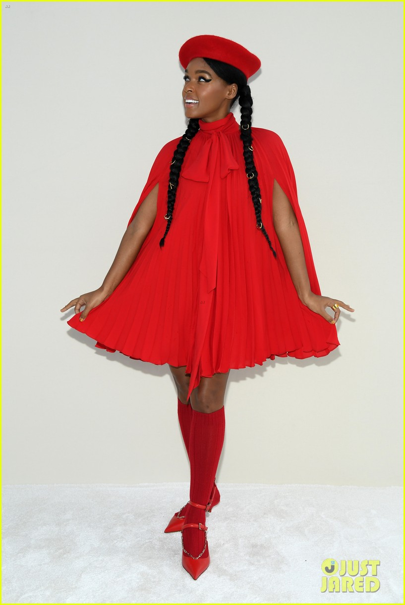 janelle monae lili reinhart katherine langford ladies in red at valentino 084250699