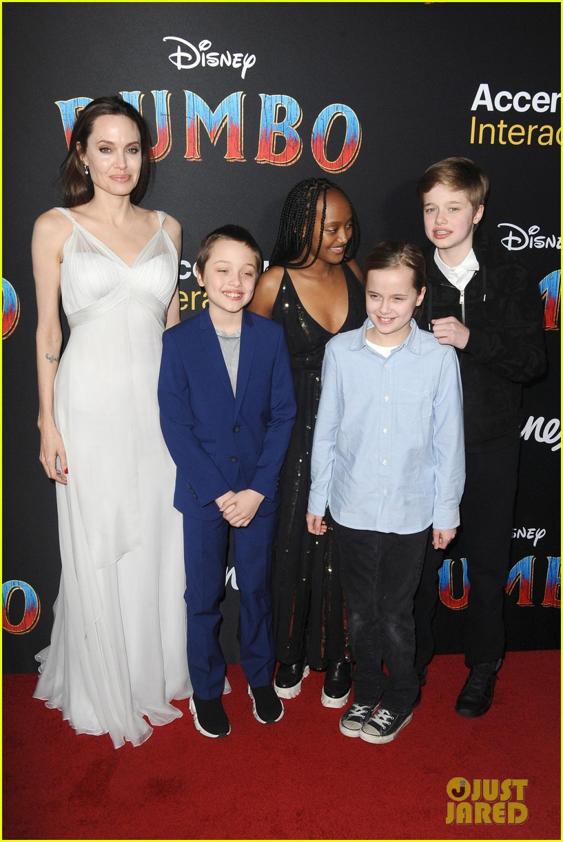 angelina jolie dumbo premiere with kids 014255434