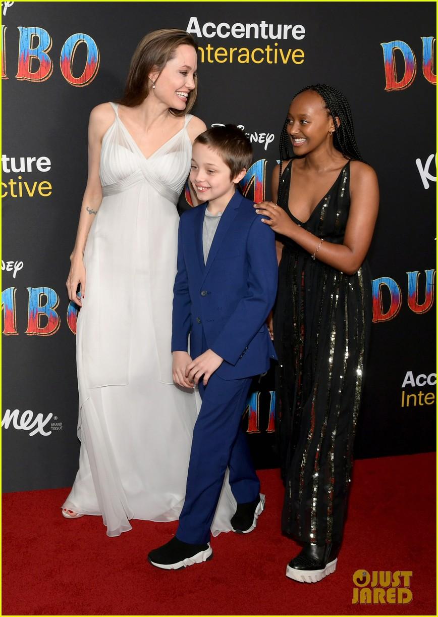 angelina jolie dumbo premiere with kids 034255436