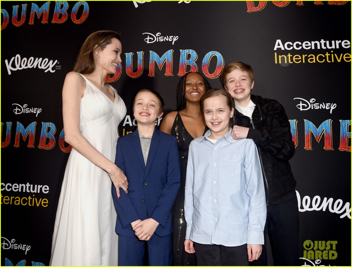 angelina jolie dumbo premiere with kids 044255437