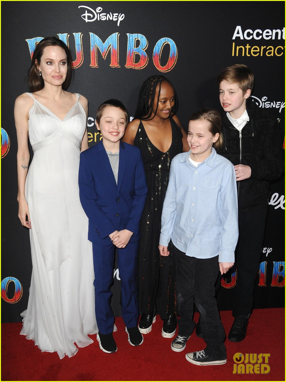 angelina jolie dumbo premiere with kids 074255440