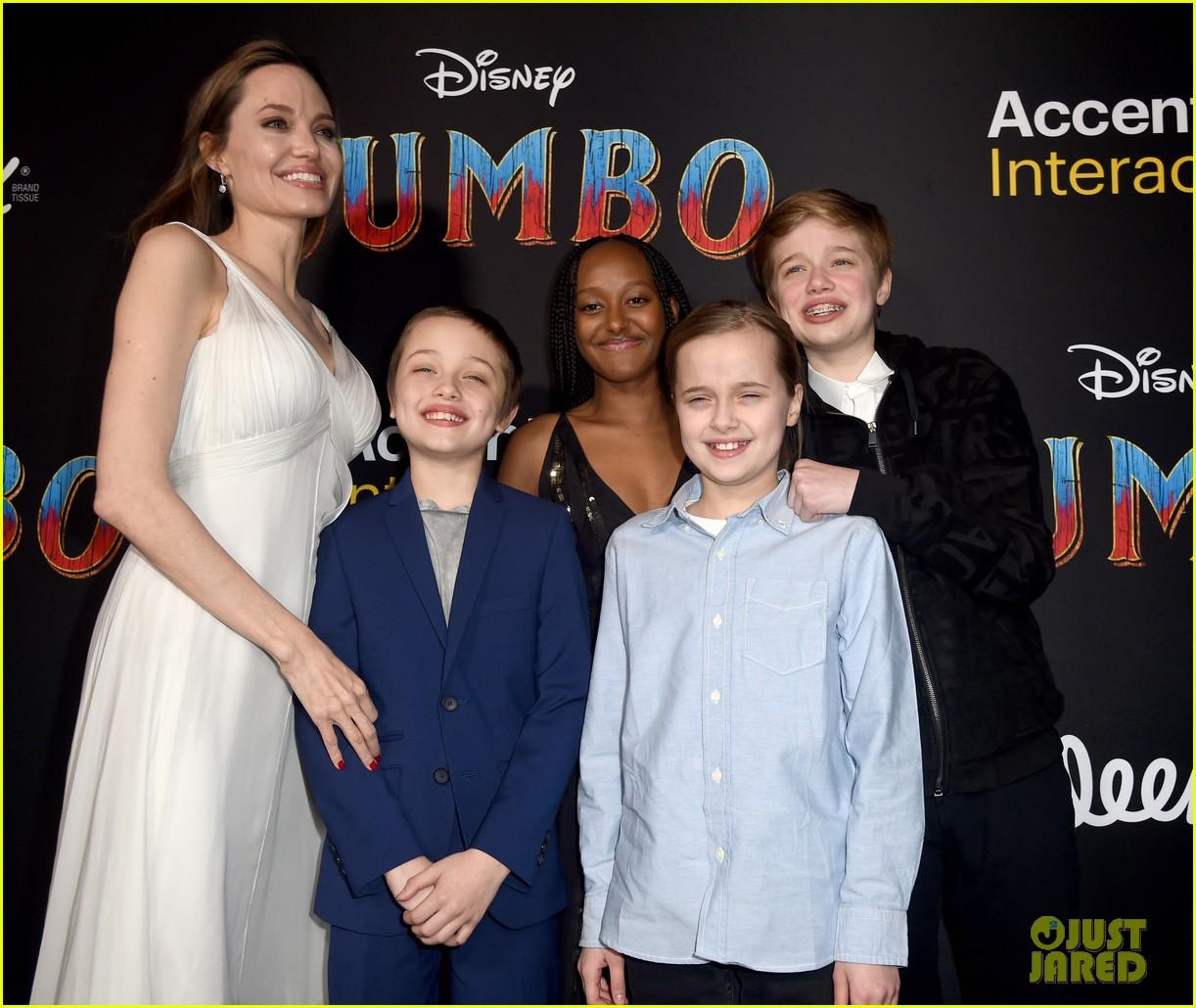 angelina jolie dumbo premiere with kids 114255444