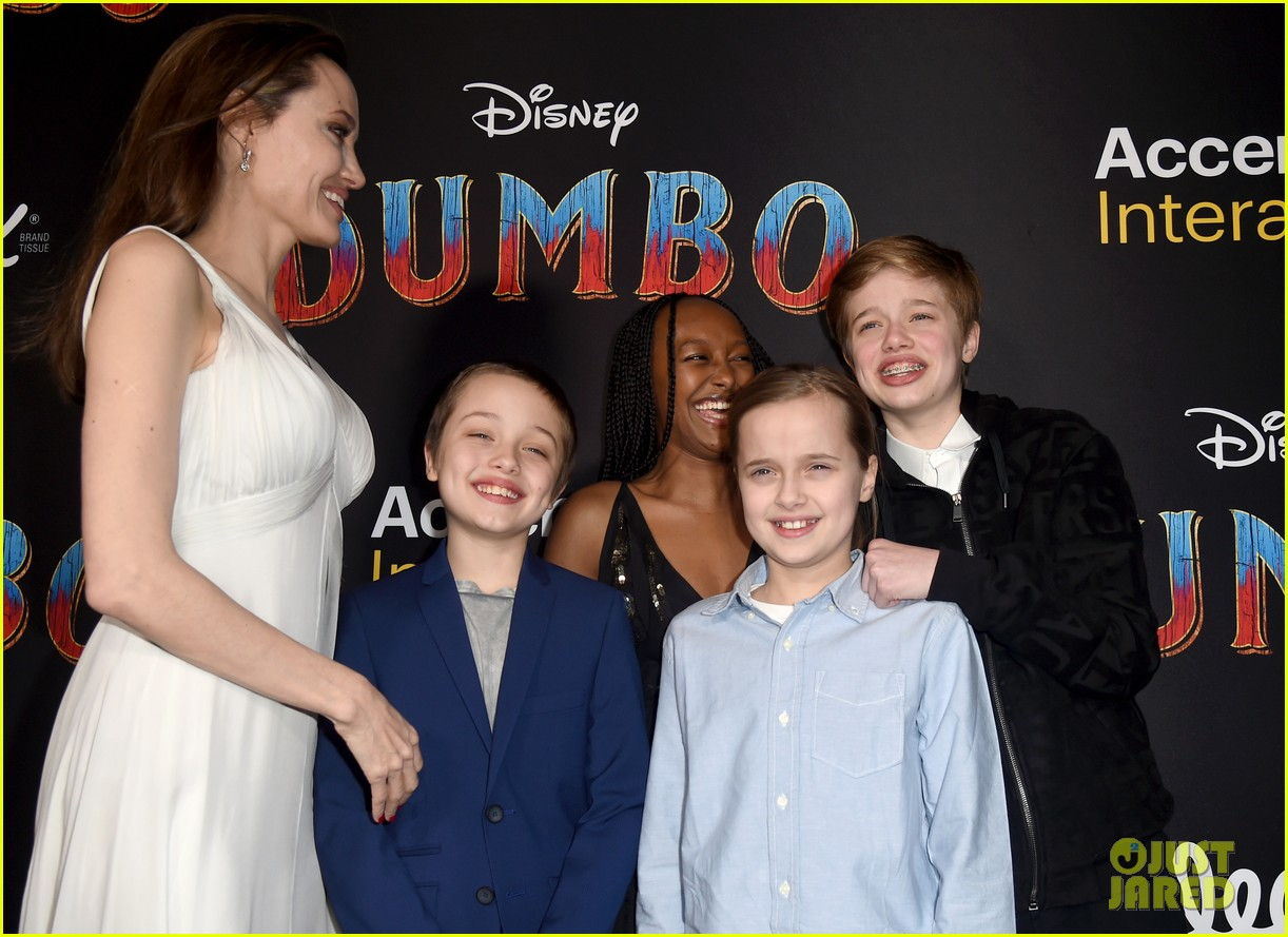 angelina jolie dumbo premiere with kids 164255449