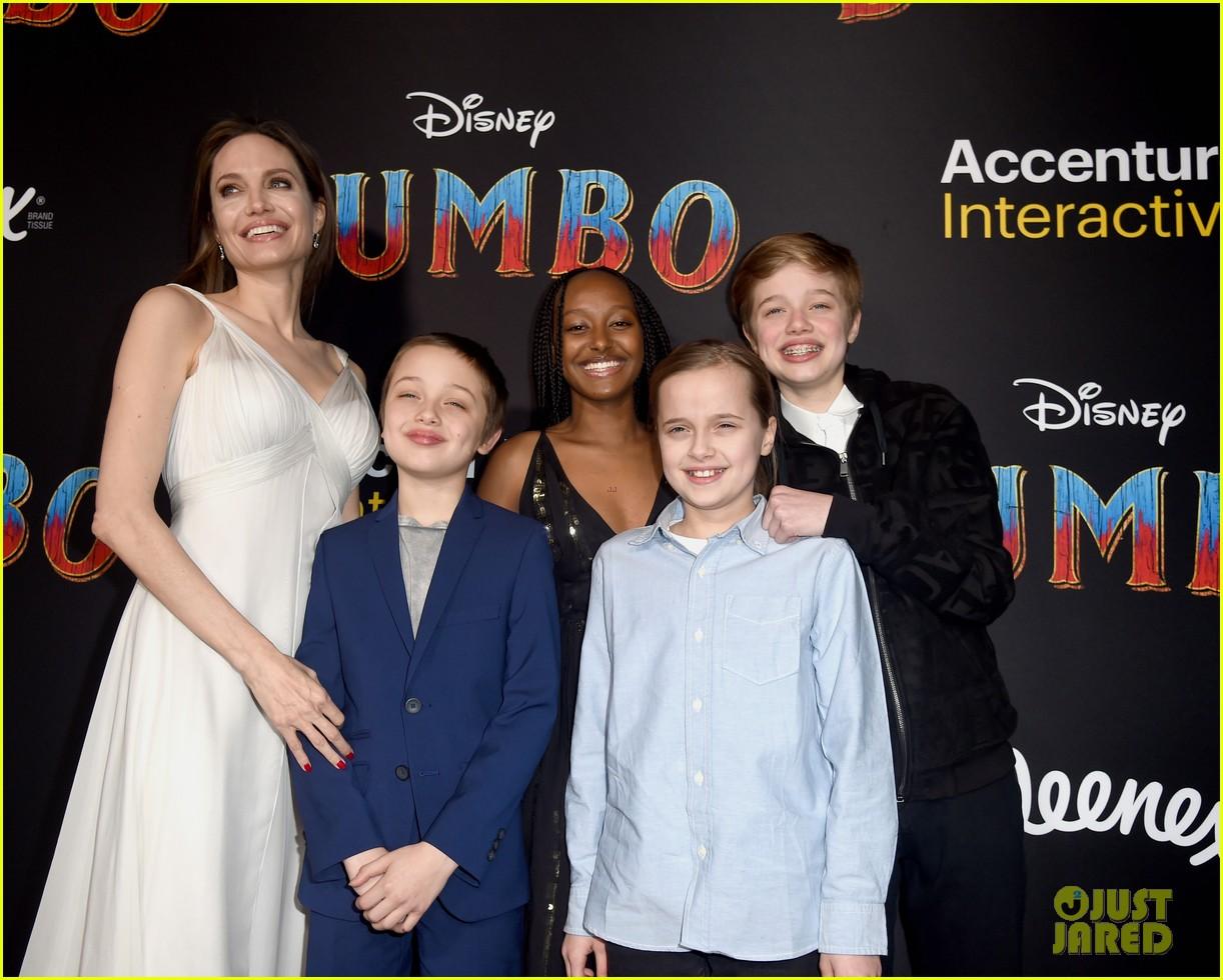 angelina jolie dumbo premiere with kids 184255451