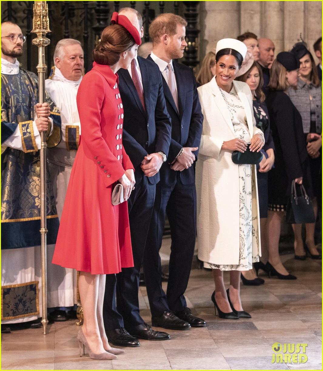 Kate Middleton & Meghan Markle Look Friendly, Greet Each