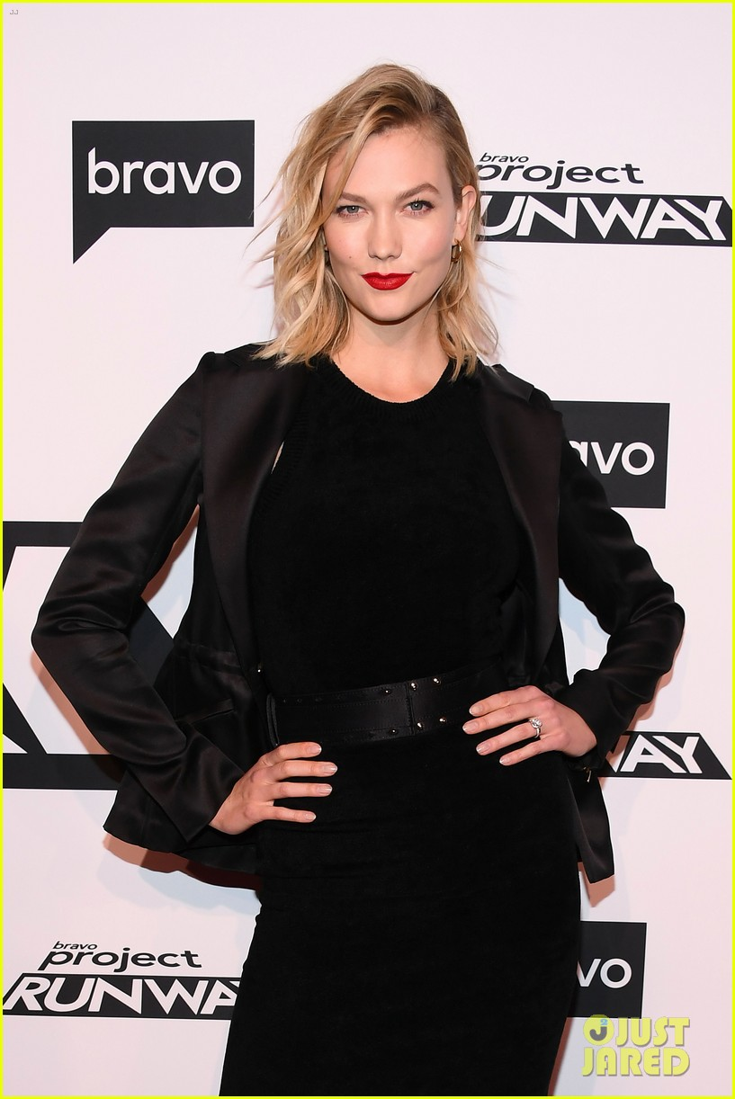 karlie kloss christian siriano step out project runway premiere 13