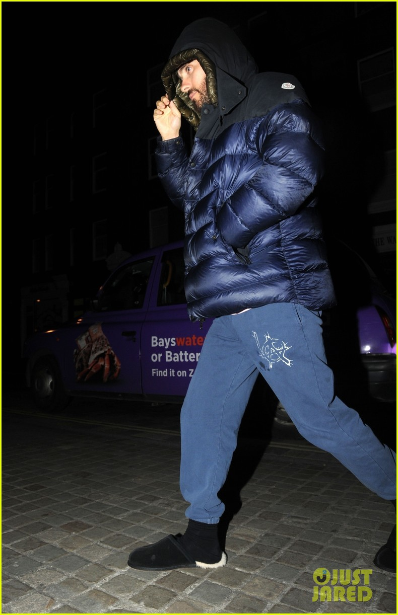 jared leto dons furry slippers while out and about in london 03