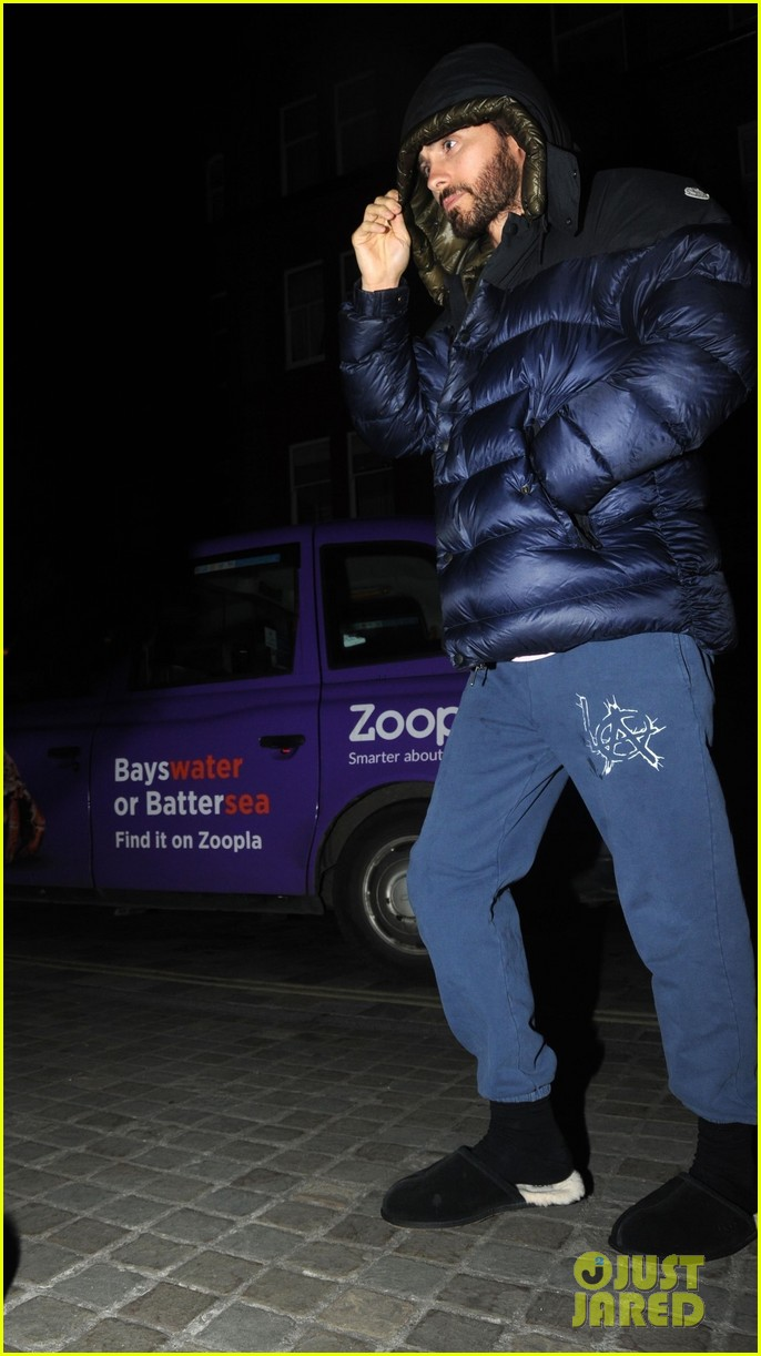 jared leto dons furry slippers while out and about in london 054262803