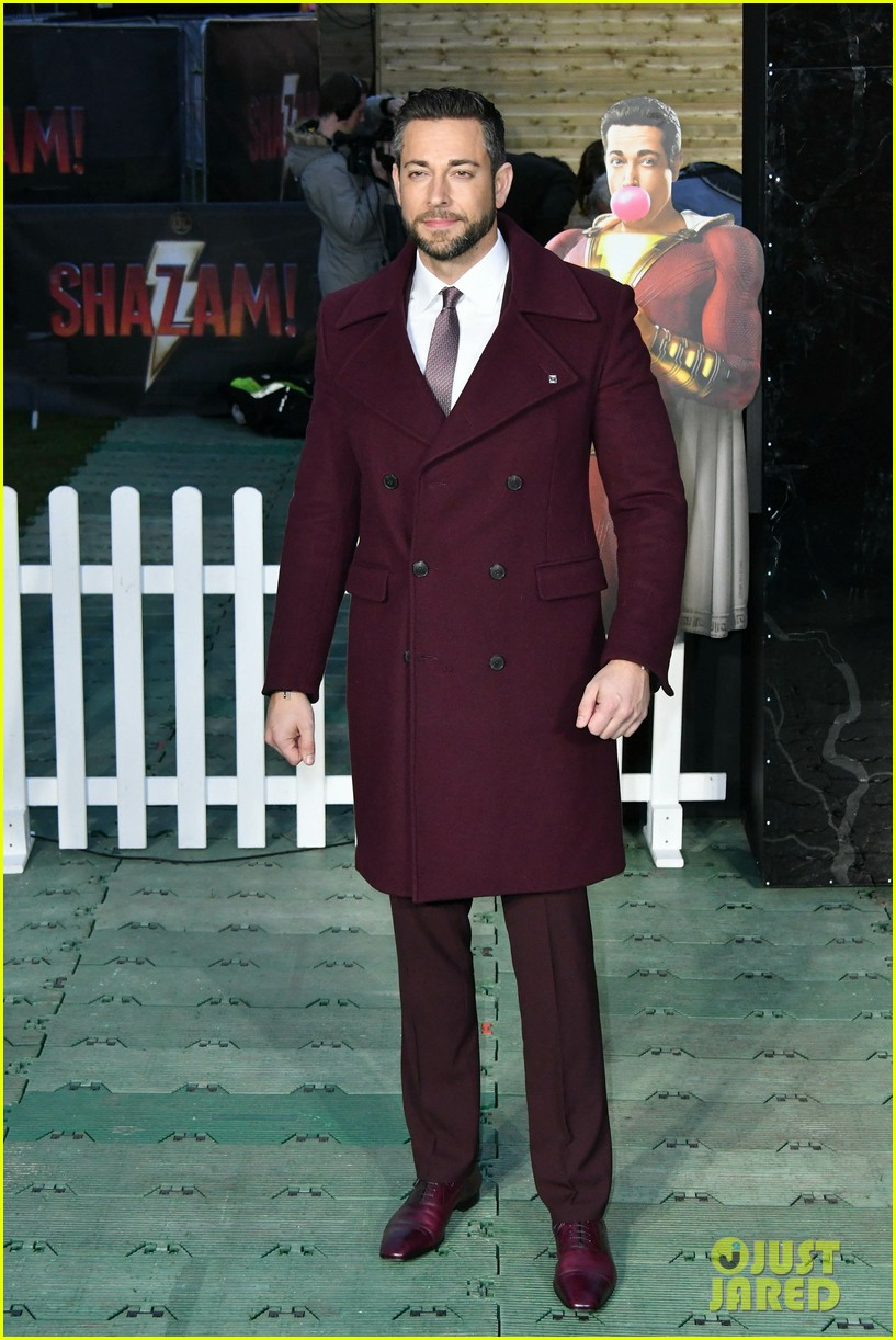 zachary levi shazam funfair photocall 124260137