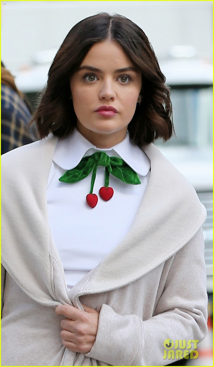 lucy hale begins filming katy keene in nyc 02