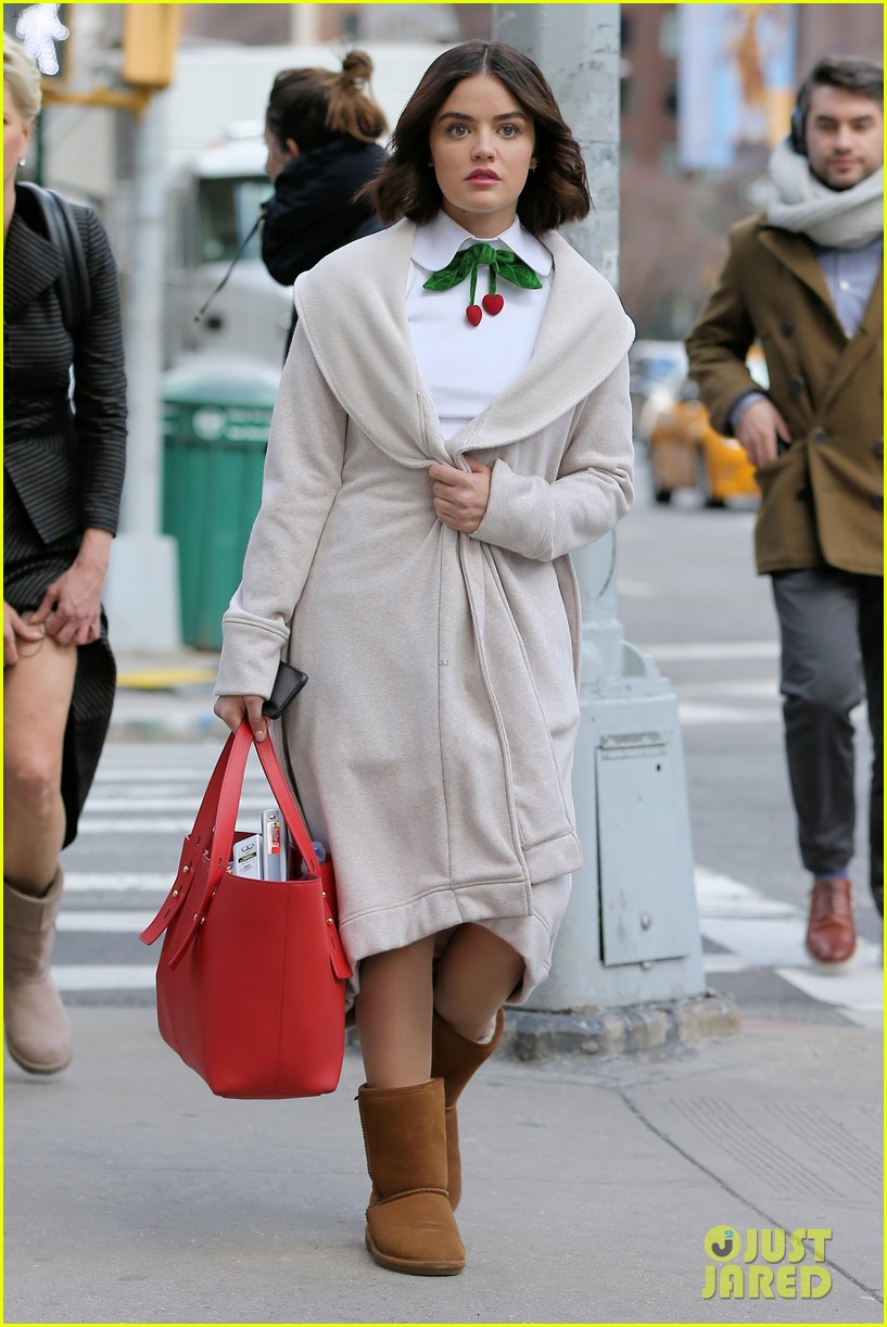 lucy hale begins filming katy keene in nyc 05