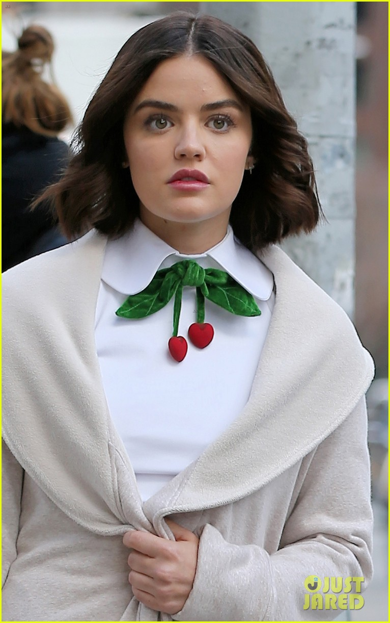 lucy hale begins filming katy keene in nyc 06