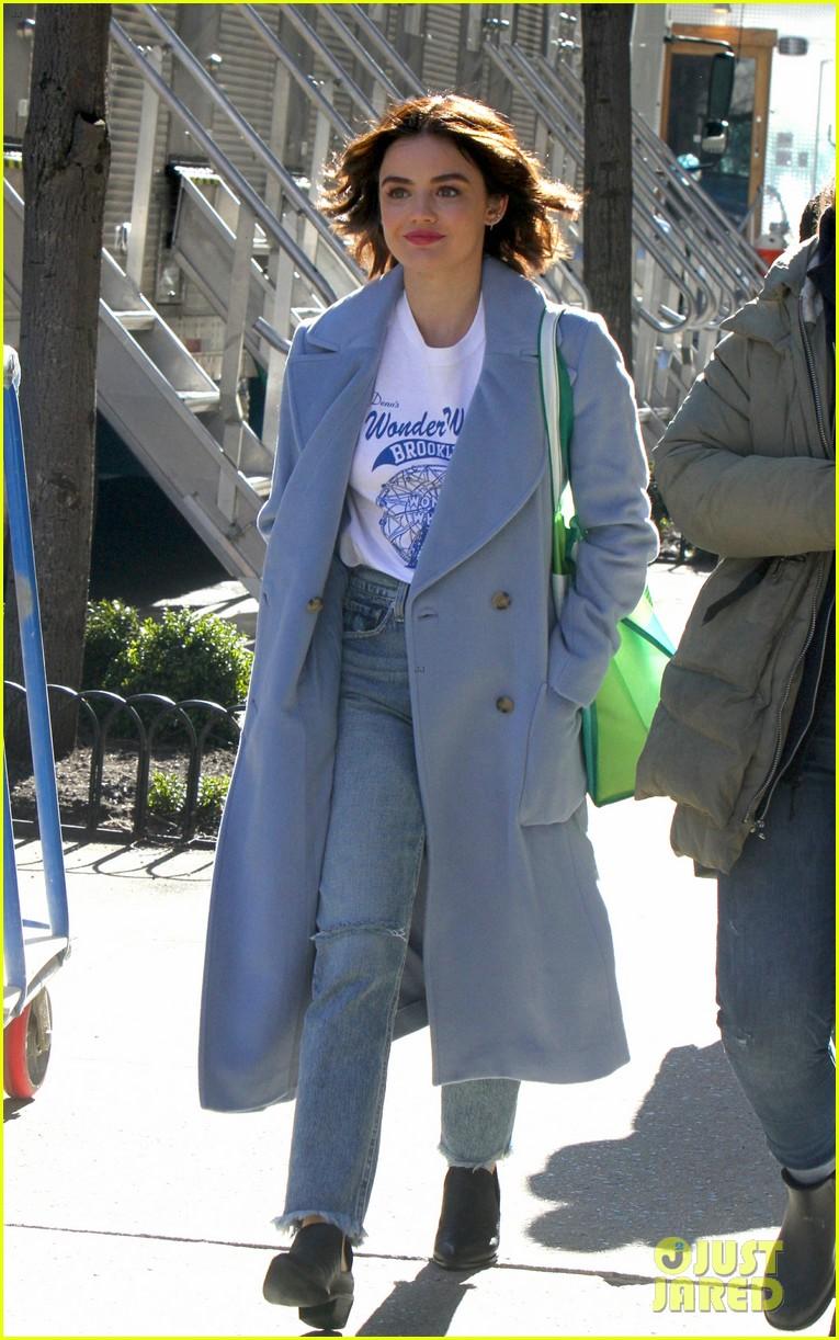 lucy hale begins filming katy keene in nyc 07