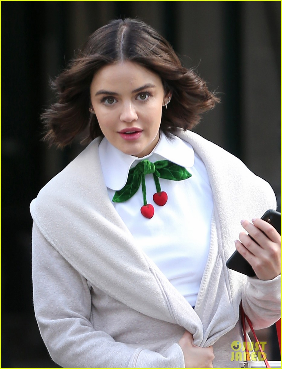 lucy hale begins filming katy keene in nyc 084259766