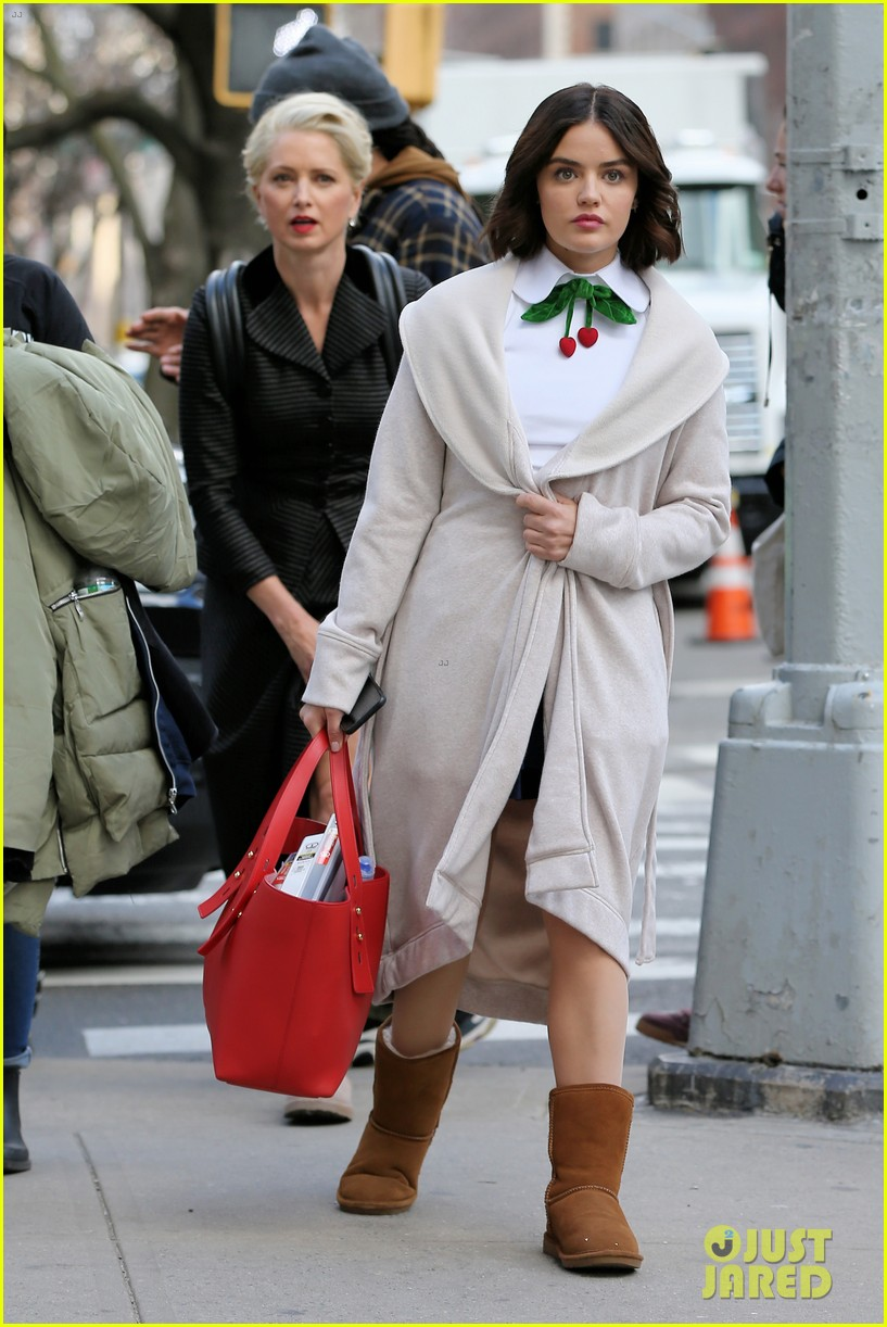 lucy hale begins filming katy keene in nyc 11