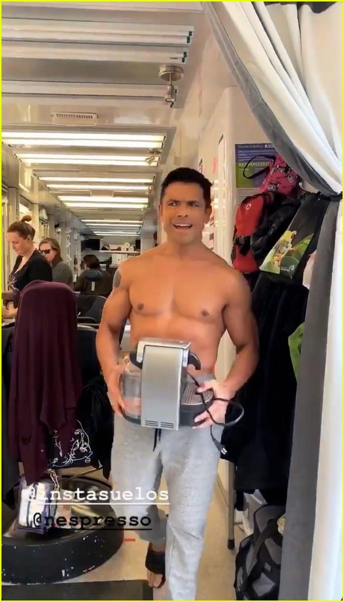 mark consuelos shirtless on kj apa instagram 01