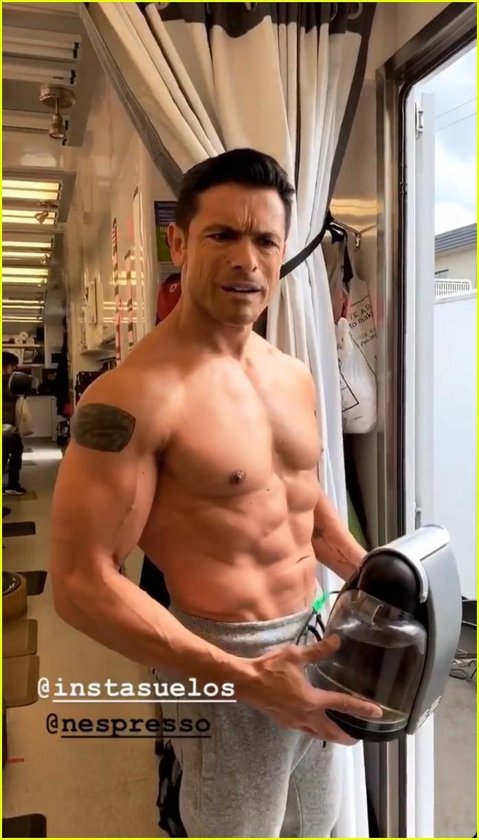 mark consuelos shirtless on kj apa instagram 03