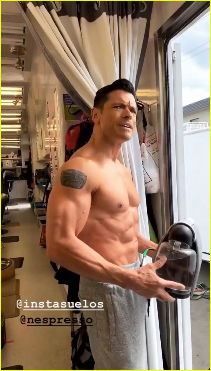 mark consuelos shirtless on kj apa instagram 06