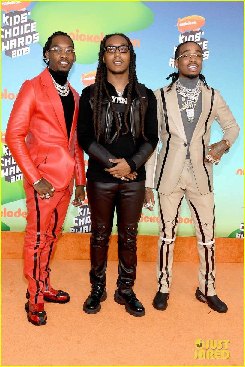 The Guys of Migos Step Out for Kids' Choice Awards 2019