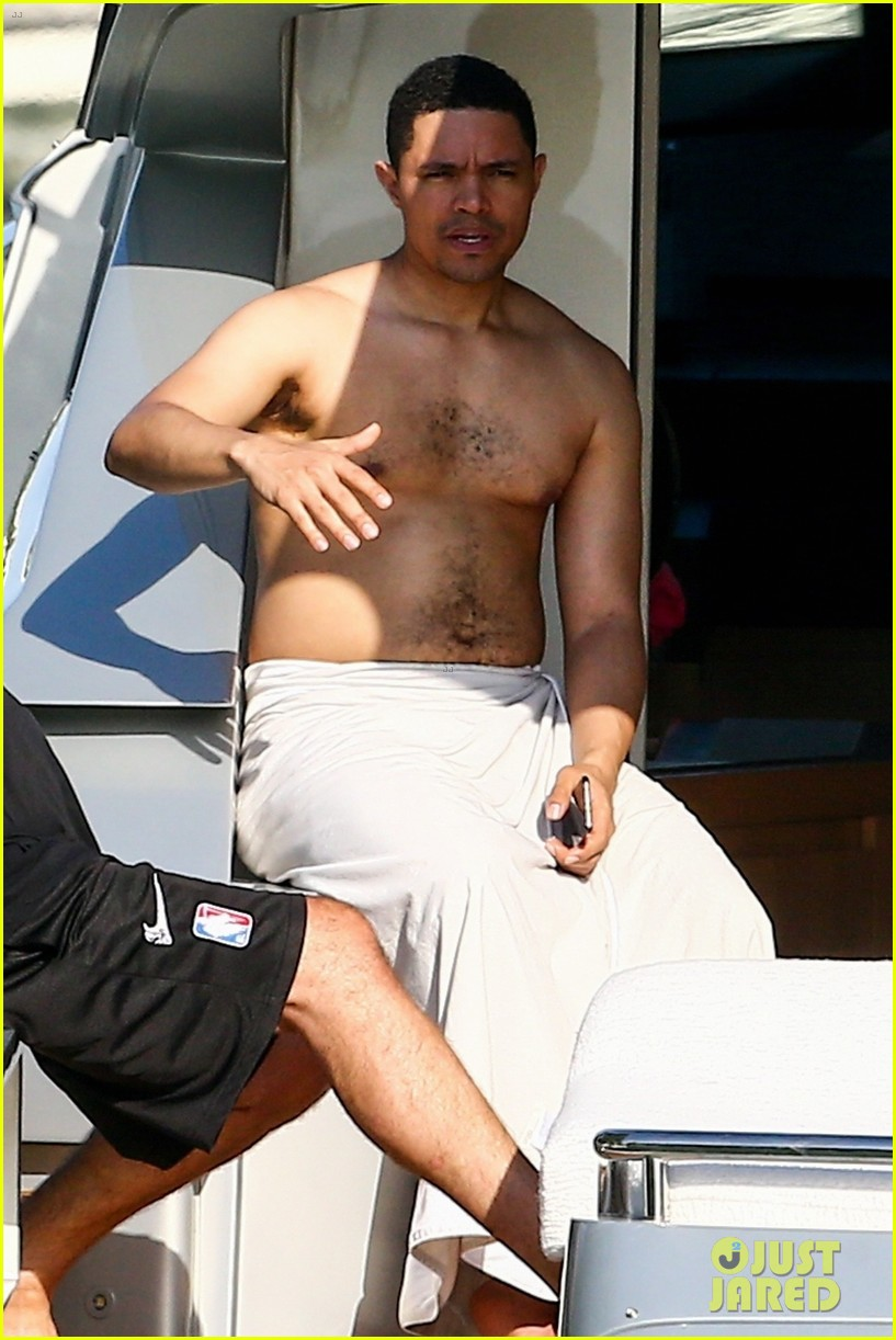 trevor noah goes shirtless on yacht in miami 014258082