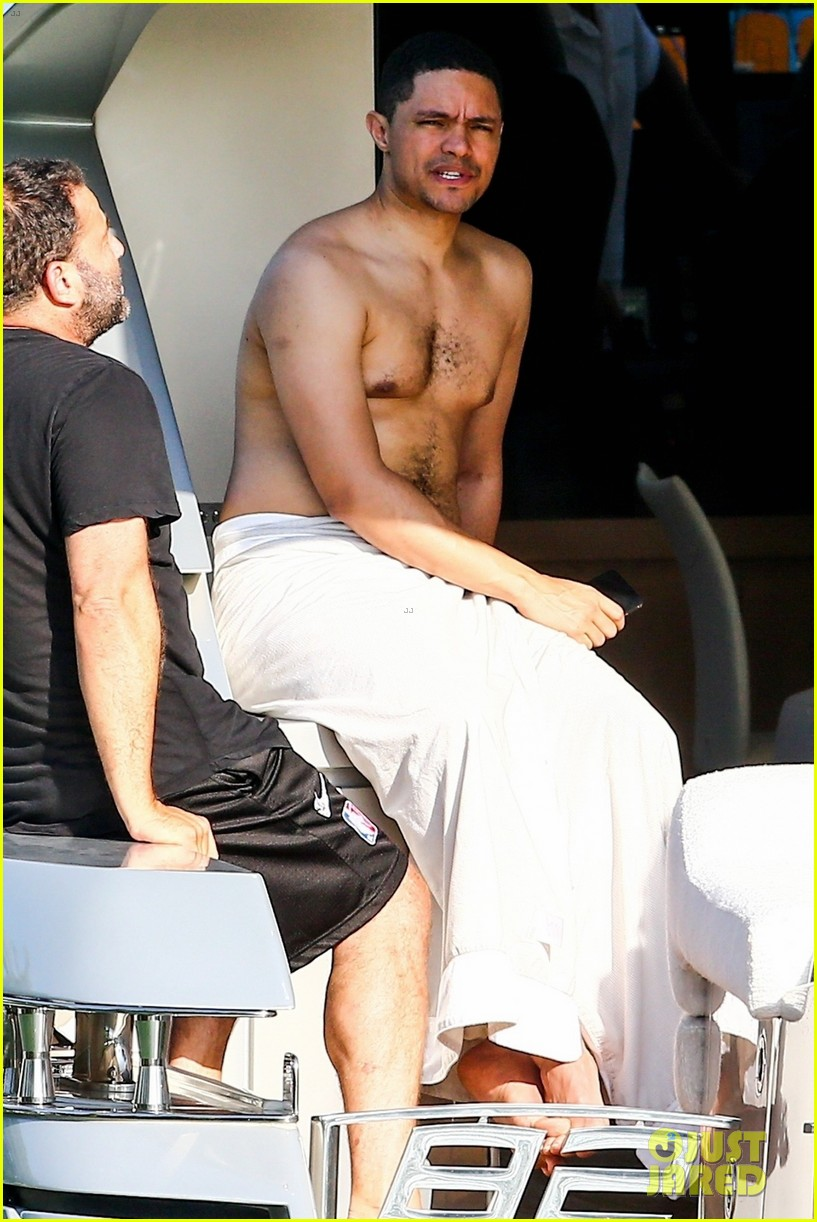 trevor noah goes shirtless on yacht in miami 054258086