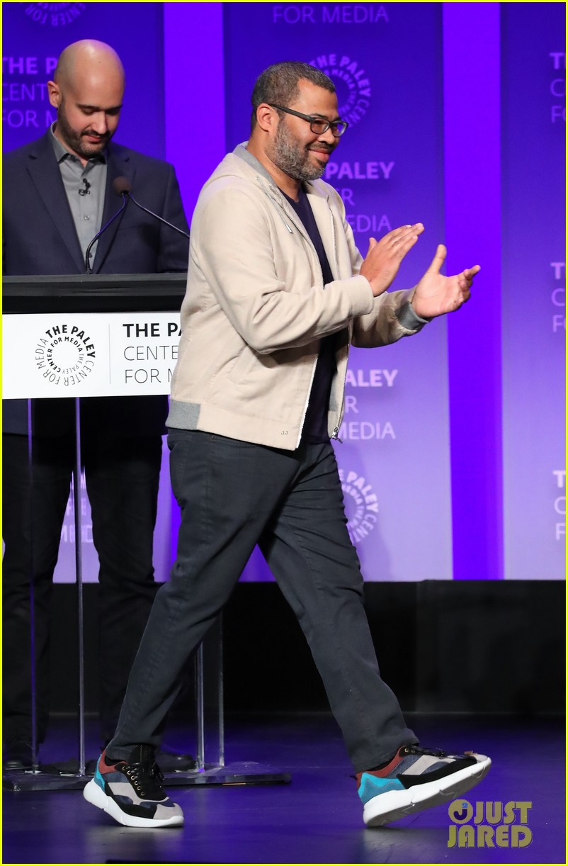 jordan peele ginnifer goodwin adam scott on twilight zone panel at paleyfest 10