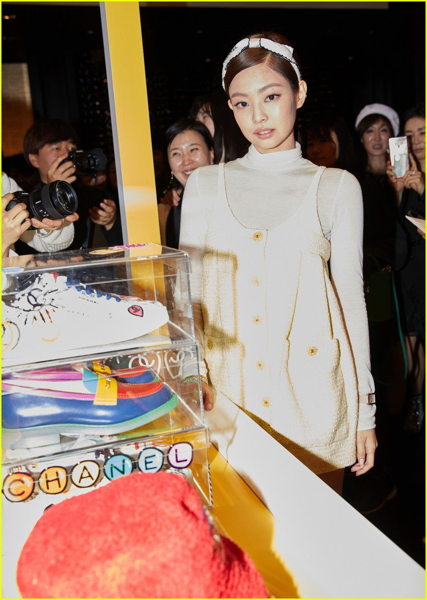1440a6b1930d0 Pharrell Williams Parties With BLACKPINK s Jennie at Launch of Chanel- Pharrell Capsule Collection in Seoul!  Photo 4264622