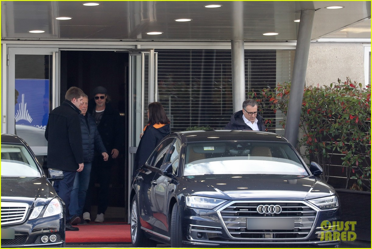 brad pitt arrives in paris france 144254806