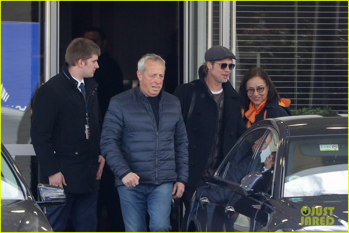 brad pitt arrives in paris france 154254807