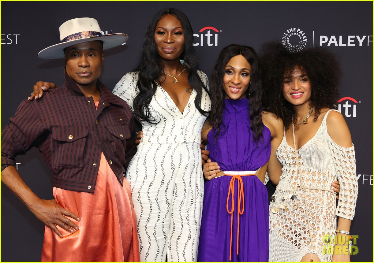 the cast of pose promote season two at paleyfest 024261655