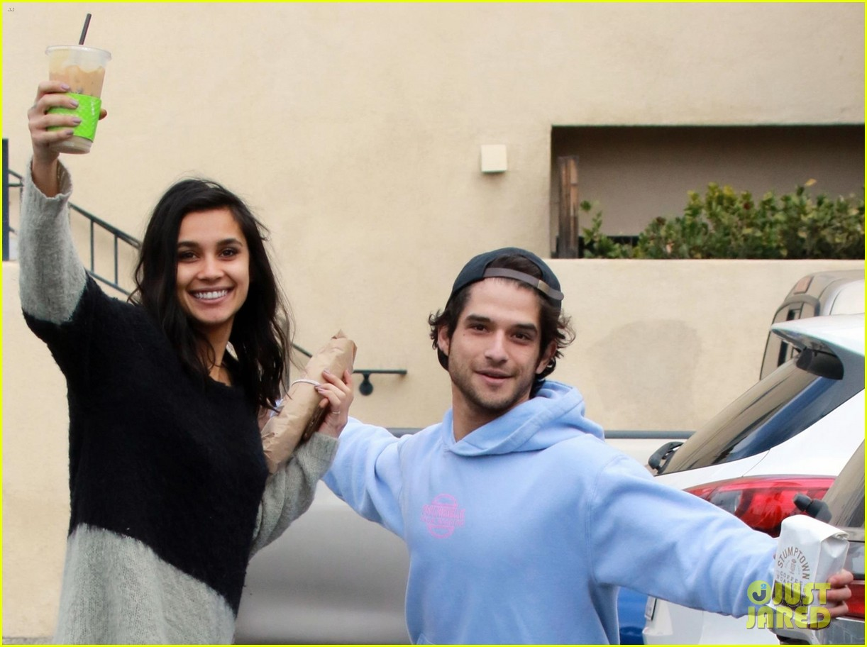 Tyler Posey & Girlfriend Sophia Taylor Ali Make a Coffee ...  Tyler Posey & G...
