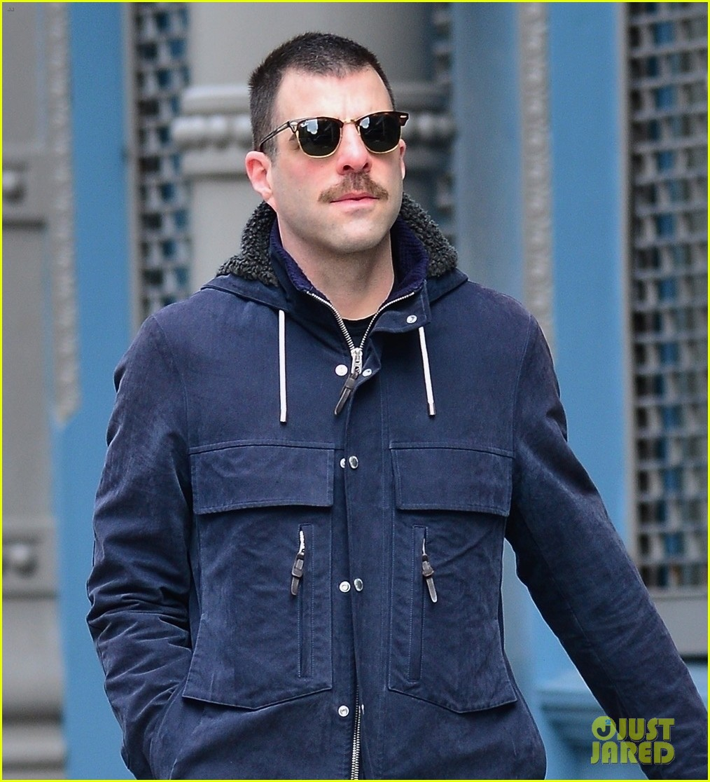 zachary quinto takes dog for a walk 02