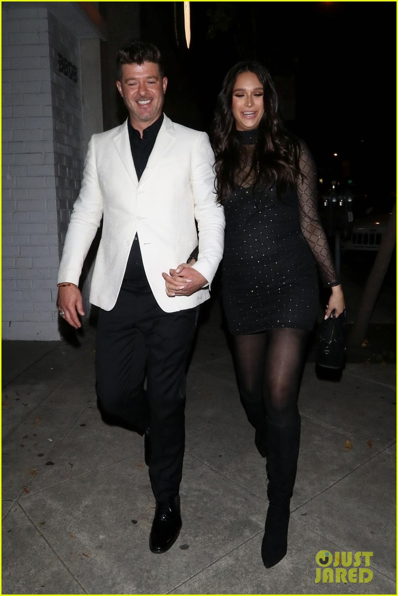 robin thicke april love geary couple up for night out 014255309