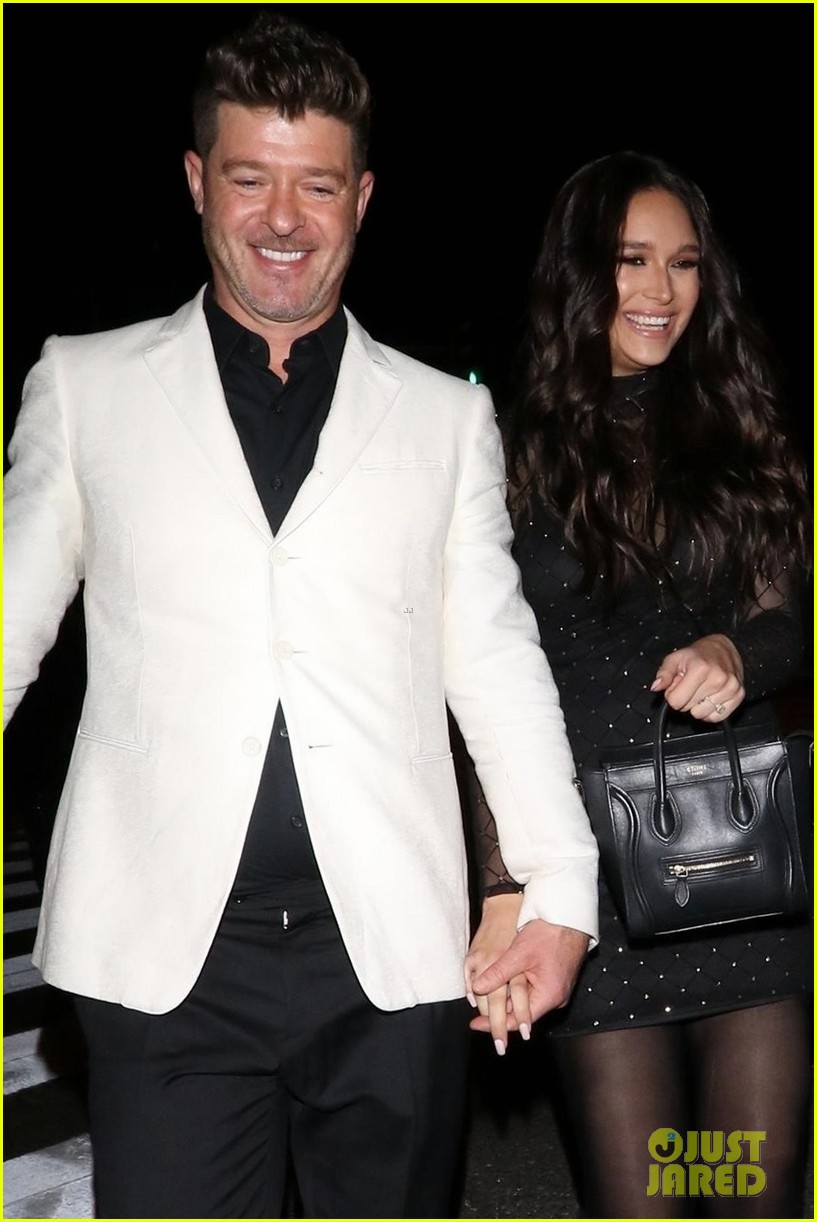 robin thicke april love geary couple up for night out 024255310